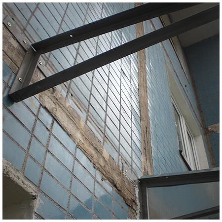 Вибропласт на крышу балкона пошагово. - металлопластиковые о.