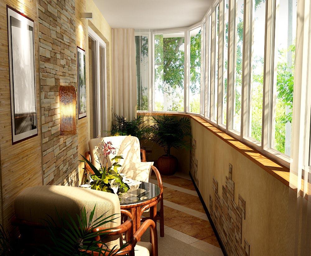 Дизайнерский балкон в рязани