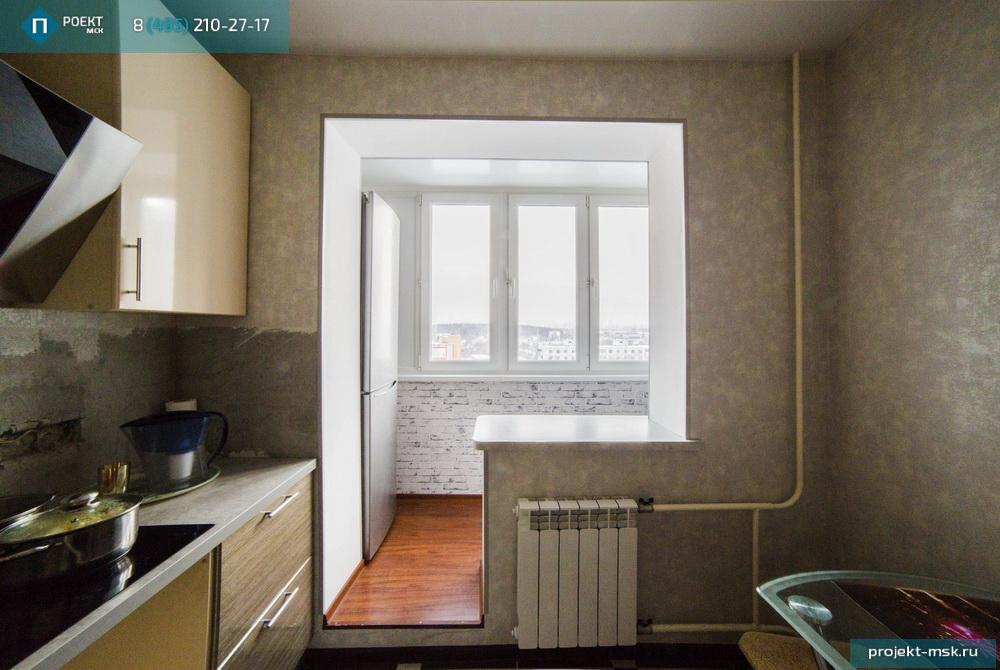 Объединение лоджий с кухней или комнатой по доступным ценам.