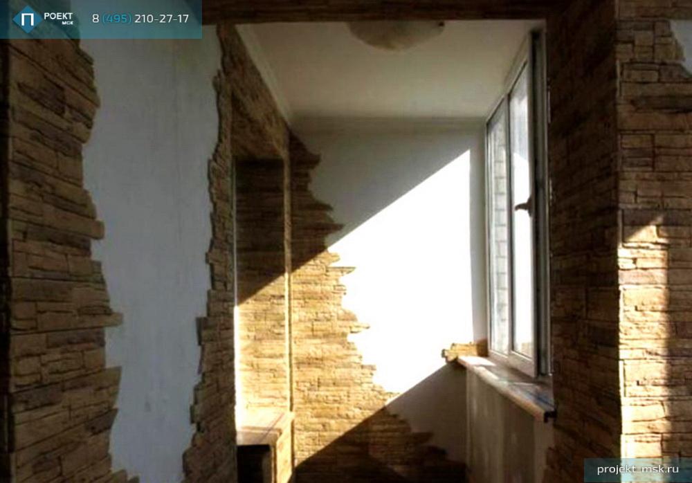 Отделка балкона облицовочным камнем фото.