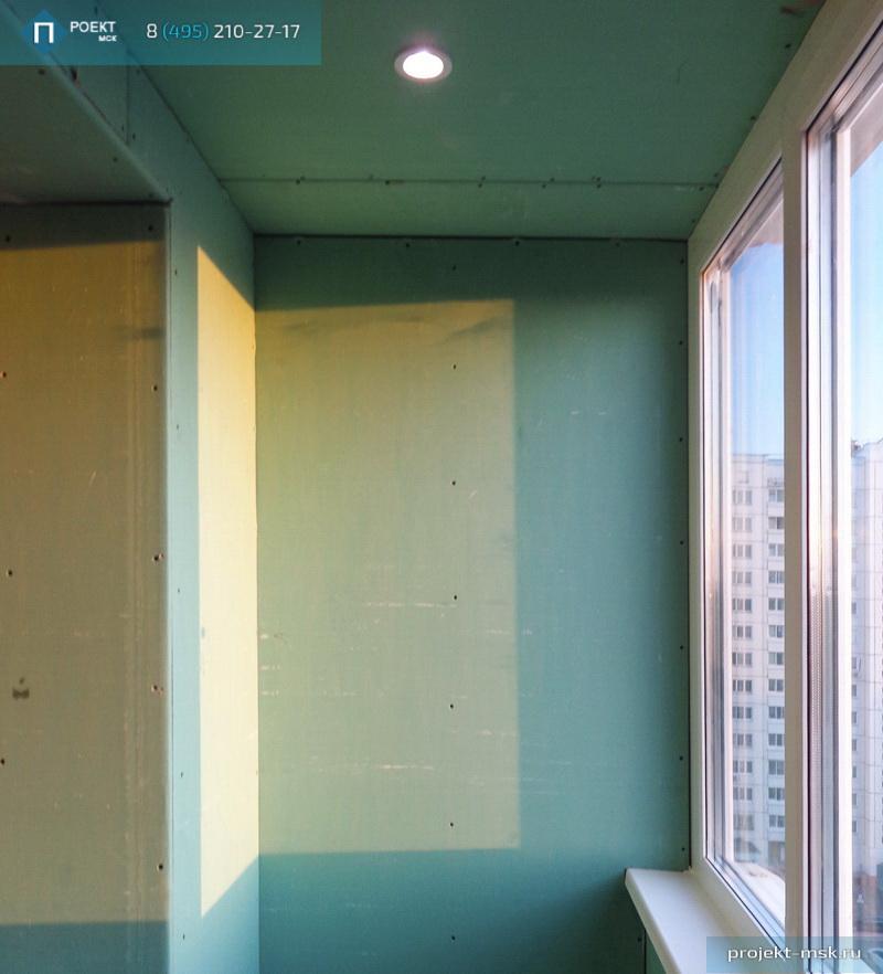 Утепление балкона гипсокартоном.