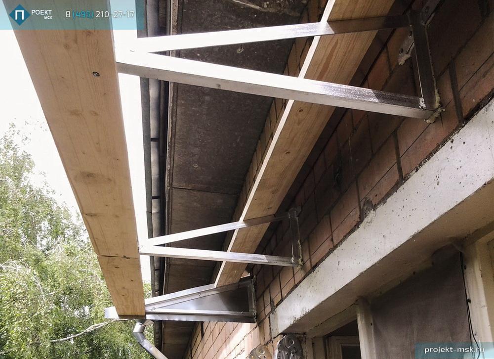 Монтаж крышини балконе. - балкон, рассчитать балкон, купить .