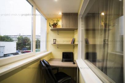 Шкаф для лоджии, стол и две навесные полки