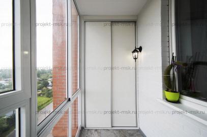 Шкаф Купе на лоджии с панорамным остеклением