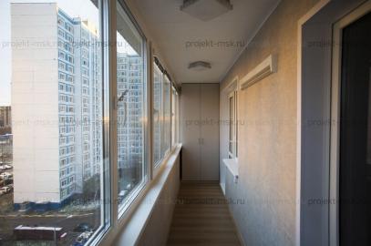 Утепление и отделка семи метровой лоджии с мебелью