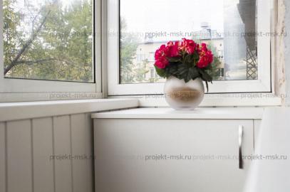 Частичная отделка балкона с выносом подоконника «эконом»