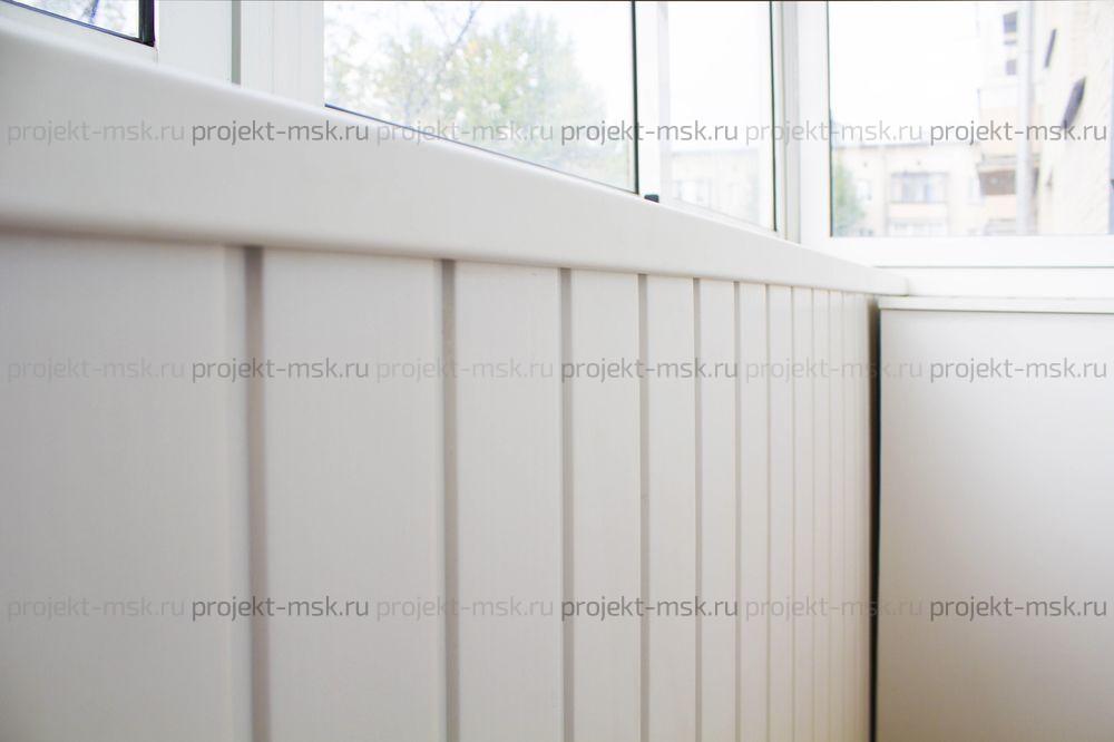 Обшивка балкона виниловой вагонкой