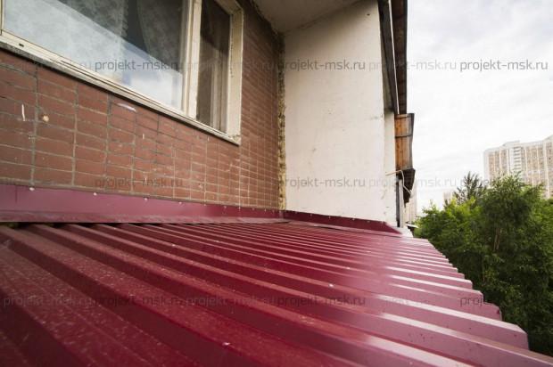 Остекление балкона с крышей